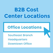 B2B Cost Center Locations