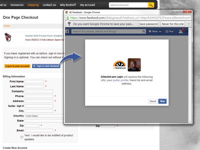 facebook log in to my account touch