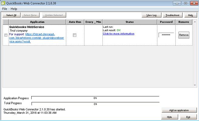 bbb117474af0 QuickBooks Web Connector eCommerce App